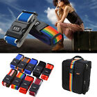 Adjustable Luggage Suitcase Straps Combination Baggage Belt Tie Down Travel Lock