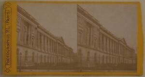 Colonnato-Del-Louvre-Parigi-Francia-Foto-Stereo-L44-Vintage-Albumina-c1870