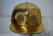 New Era Star Wars BigFace C3PO 59/50 Mens Blue Silver Fitted Cap Hat size 7 1/4
