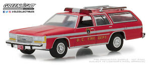 1-64-GreenLight-HOBBY-EX-1990-Ford-LTD-Crown-Victoria-WAGON-DC-Fire-Dept-NIP