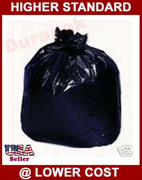 80 55 Gallon Black LDPE 14 Mil Garbage Trash Can Liner Bags Waste Disposal Bag