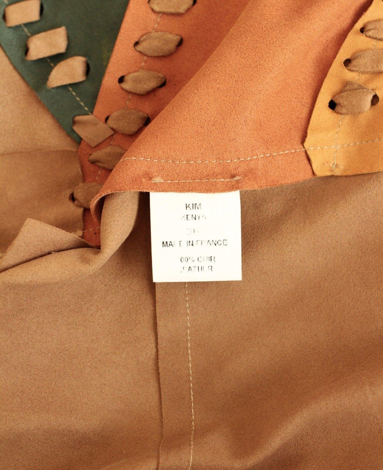 VENTCOUgreen Kim Kenya suede leather top tassels FR36 UK8 UK8 UK8 US2-4 957308