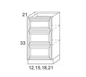 Image is loading ALL-WOOD-RTA-Shaker-Kitchen-Base-Cabinet-18x34-  sc 1 st  eBay & ALL WOOD RTA Shaker Kitchen Base Cabinet 18x34.5X24 Espresso DB18-3 ...