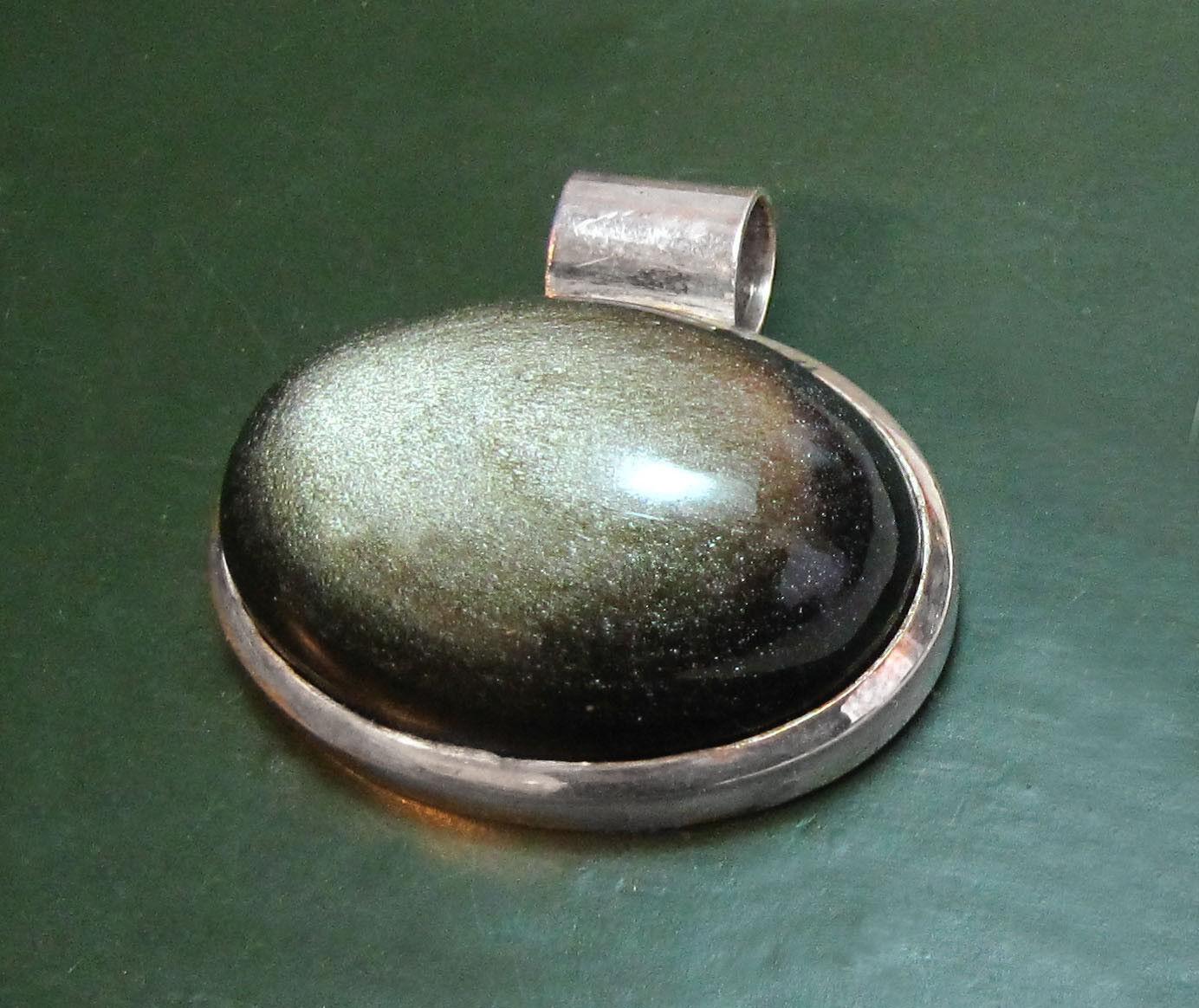 Gewaltiger 925er silver-ANHÄNGER m. FALKENAUGE • 50,75 g Heilstein