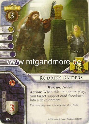 Warhammer Invasion 1x Rodrik/'s Raiders  #007