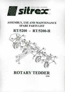 Details about Sitrex Rotary Tedder RT/5200 - RT/5200-H Ops Manual