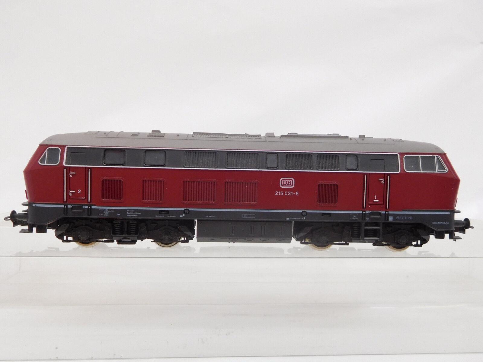 Mes-51068 ROCO h0 DIESEL DB 215 031-6 con minimi segni di usura,