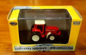 New-Toy-Zone-Mini-Machines-Field-Pro-Master-Red-Farm-Tractor-Die-Cast