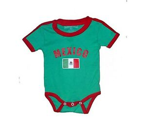 Mexico Baby Bodysuit 100% Cotton All Season Soccer Jersey Flag T ... cf534b0a216