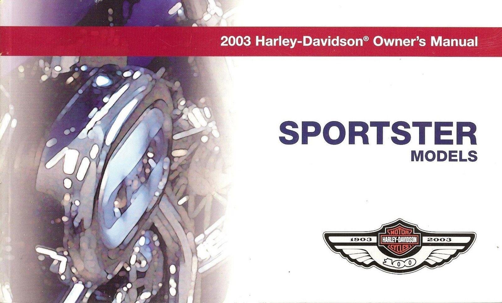 2003 Harley-Davidson Sportster 100th Anv Owners Manual Set Neu