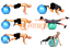 HOME-FITNESS-FIT-BALL-55-95-YOGA-PILATES-GYM-PALLA-SVIZZERA-ANTISCOPPIO-PALESTRA miniatura 4