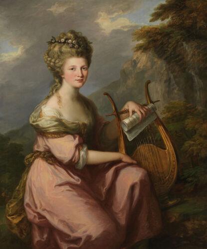 Portrait of Sarah Harrop la signora Bates as a Muse Angelika Kauffmann B a3 00508