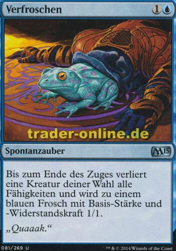 Magic 2015 M15 Magic Turn to Frog 2x Verfroschen