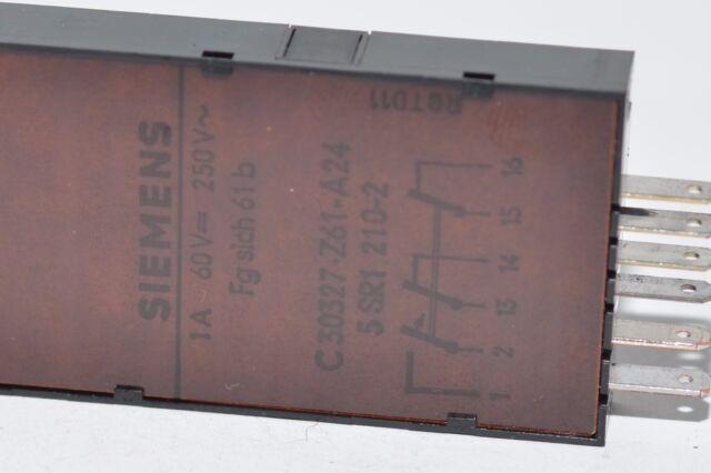 250 VAC 60 VDC 1 A 2x Fernmelde-Schutzschalter von Siemens Typ C30327-Z61-A24