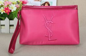 Image is loading YSL-Pink-Makeup-Cosmetics-Bag-with-handle-Brand- ff6a59adb6956