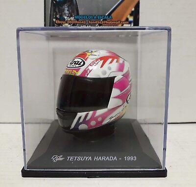 "1993 /"" SCALE 1//5 ALTAYA DIE CAST HELMETS MOTO GP /"" TETSUYA HARADA"