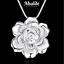 Collar-Colgante-Joya-Mujer-Diseno-Flor-Plata-Accesorio-Regalo-Dia-de-la-Madre miniatura 2