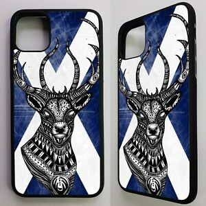 Deer-stags-head-scottish-flag-scotland-cross-graphic-case-cover-for-iphone-11