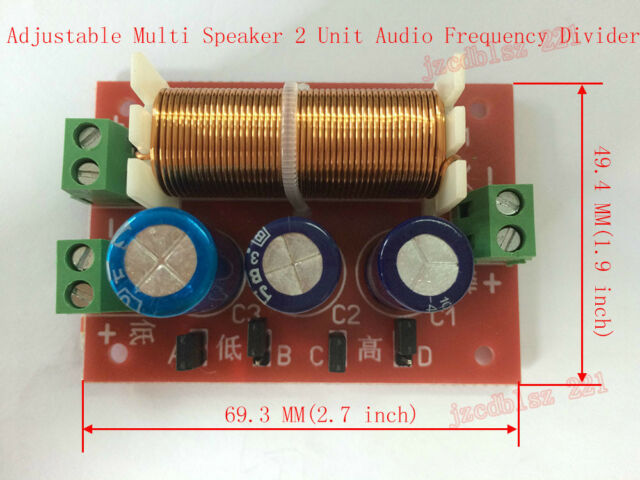 Adjustable Multi Speaker 2 Unit Audio Frequency Divider 2Way Crossover Filters