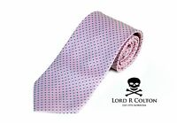 Lord R Colton Basics Tie - Pink & Blue Dot Woven Necktie - $59 Retail on sale