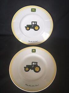 Image is loading 2-Gibson-John-Deere-dinner-plates & 2 Gibson John Deere dinner plates   eBay