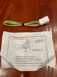 toyota 4runner trailer wiring adaptor toyota 4runner trailer brake jumper harness wire connector oem ebay  toyota 4runner trailer brake jumper