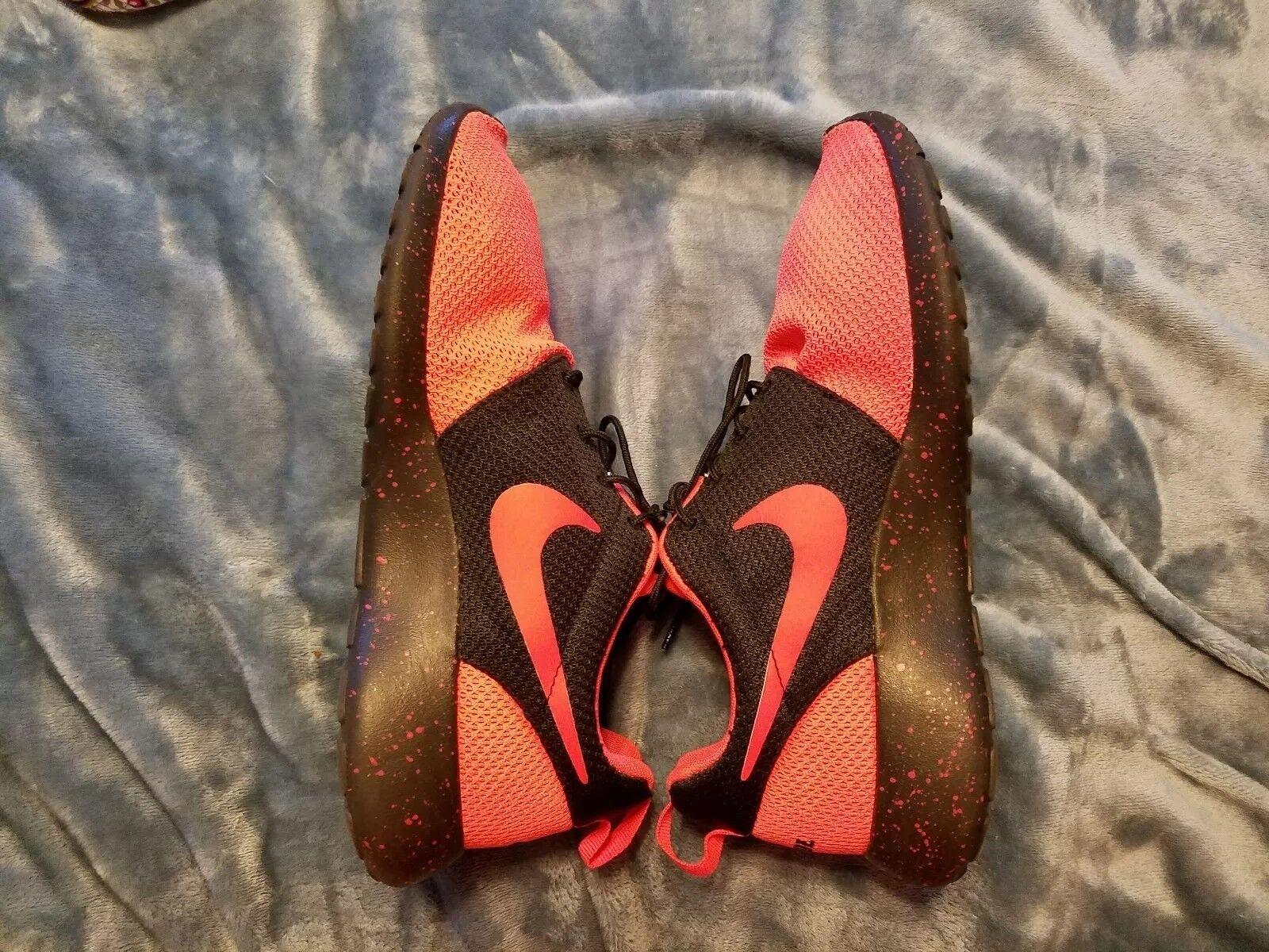 NikeiD Men's Roshe One Athletic Shoe Black/Orange 616834-992 size 8 Comfortable and good-looking