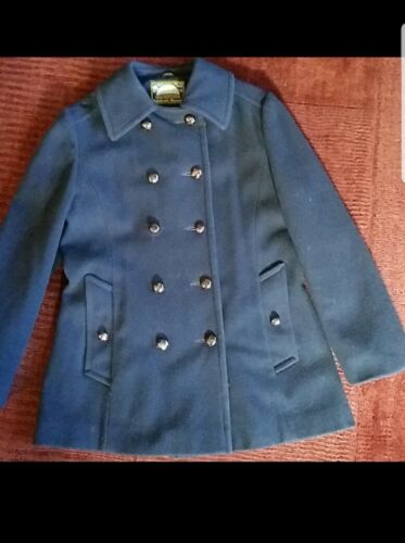 Vintage Mackintosh Navy Wool Peacoat Womens Small