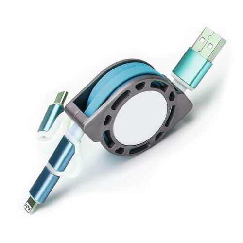 3 en 1 retráctil tipo C//micro//iPhone carga USB//Cable De Sincronización De Datos Para Samsung