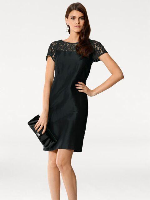 PATRIZIA DINI Designer Seidenkleid schwarz Gr. 34 bis 46 Kleid Abendkleid