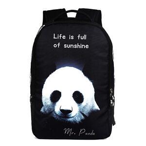 NUEVO-Mr-Panda-Life-is-lleno-de-amanecer-Mochila-Escolar-Viaje-Bolsa-Deporte