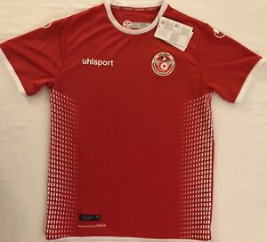 wholesale dealer 8c961 42dd9 Details about Tunisia National Team Home Soccer Jersey. Adult Size: Small
