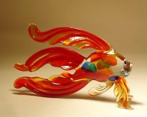 Toys & Hobbies Blown Glas Figur Kunst Rot Betta Fisch Mit Gefleckt Körper Durable In Use Action Figures