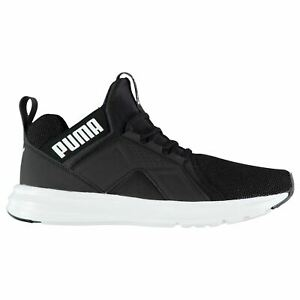 Puma-Enzo-Mesh-Runners-Trainers-Mens-Black-Athletic-Sneakers-Shoes
