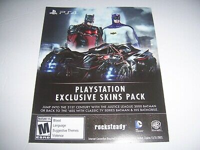 Exclusive Skins For Batman Arkham Knight Download Code DLC
