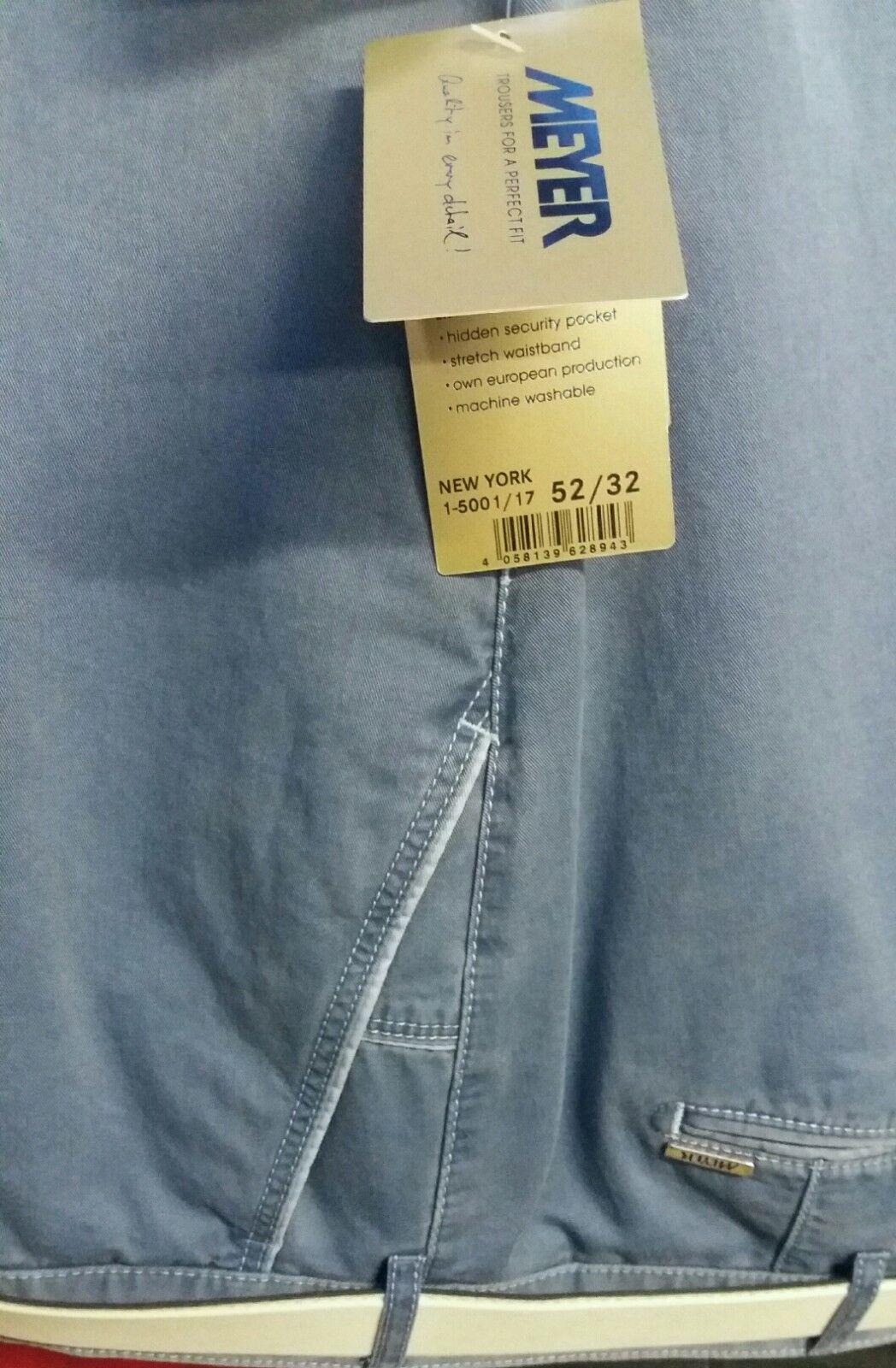 Meyer Blu New York Pantaloni 5002 33 107cm44   46   48   50   52   Girovita