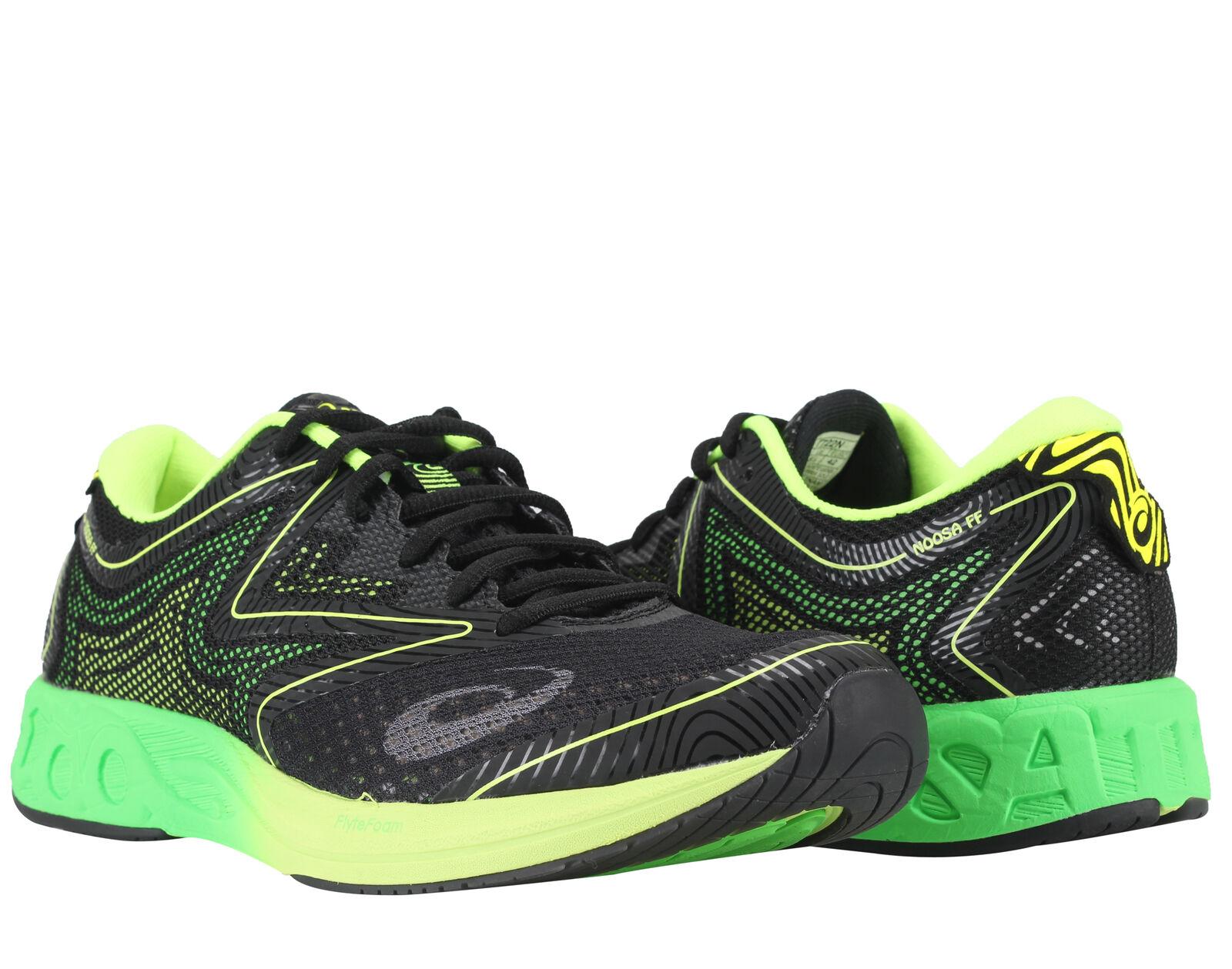 Asics Noosa FF Noir/Vert Gecko/Safety Jaune Homme Running Chaussures T722N-9085
