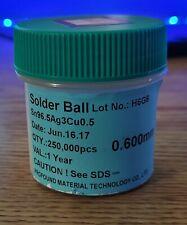 Bga Lead Free Solder Balls Sn965ag3cu05 0600mm 200k For Soldering Repair
