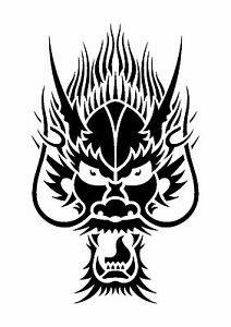 Chinese-Dragon-Tattoo-style-stencil-350-micron-Mylar-not-thin-stuff-TaT007