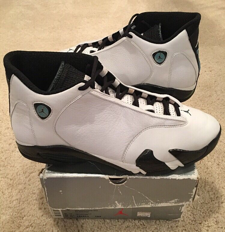 Nike Air Jordan 14 XIV OG Original White Black Oxidized Green Size 15 1999