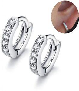16ba060ca Image is loading IminiJewelry-Cubic-Zirconia-Small-Hoop-Earrings-Ear-Cuff-