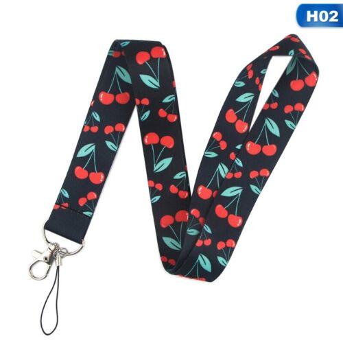 Fruit Cherry Art Lanyard Neck Strap ID Card Phone Strap Badge Holder Lady Men FA