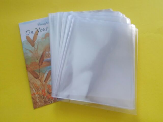 300 clear open end cello envelopes a2 4 5 8 x 5 3 4 cellophane bags