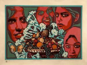 Cuban Art Master RAUL MARTINEZ Hand-signed Original Limited Edition Serigraph n2