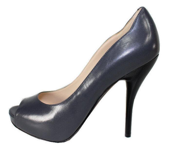 Nine West Sweettalk Dark grau Leather Open Toe High High High Heel Platform Pumps fd299e