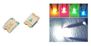 10-LED-SMD-0402-3V-ALTA-LUMINOSITA-039-BIANCHI-BLU-ROSSO-VERDE-GIALLO-Diodi-luce