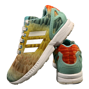 Adidas-ZX-Flux-Chaussures-Femmes-Taille-UK-3-5-Multicolore-Sports-Baskets-EUR-36