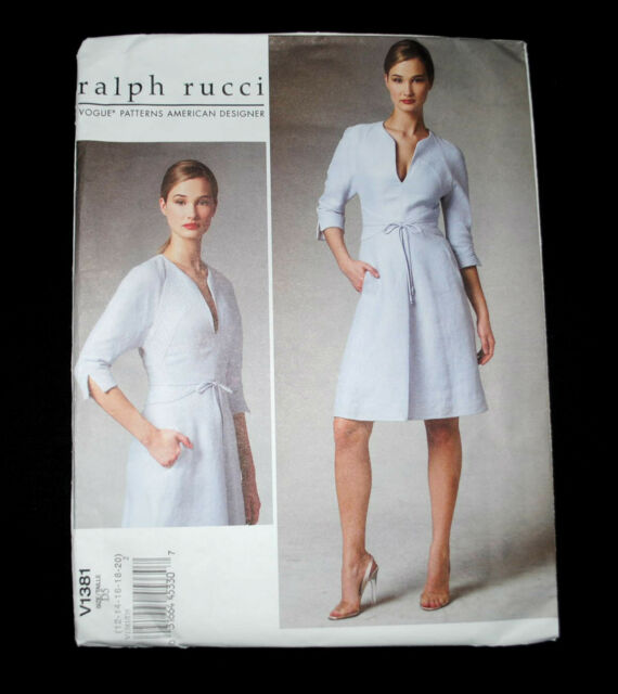 Brand New-Never Used, Vogue (Ralph Rucci) Pattern V1381  Size 12 - 20