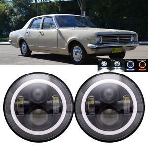 7-034-LED-HeadLights-Flash-Amber-For-Holden-HQ-HT-HZ-HG-HX-Premier-Kingswood-Monaro