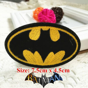 Premium-Quality-DIY-Batman-Embroidered-Patch-Applique-Badge-Iron-on-Sew